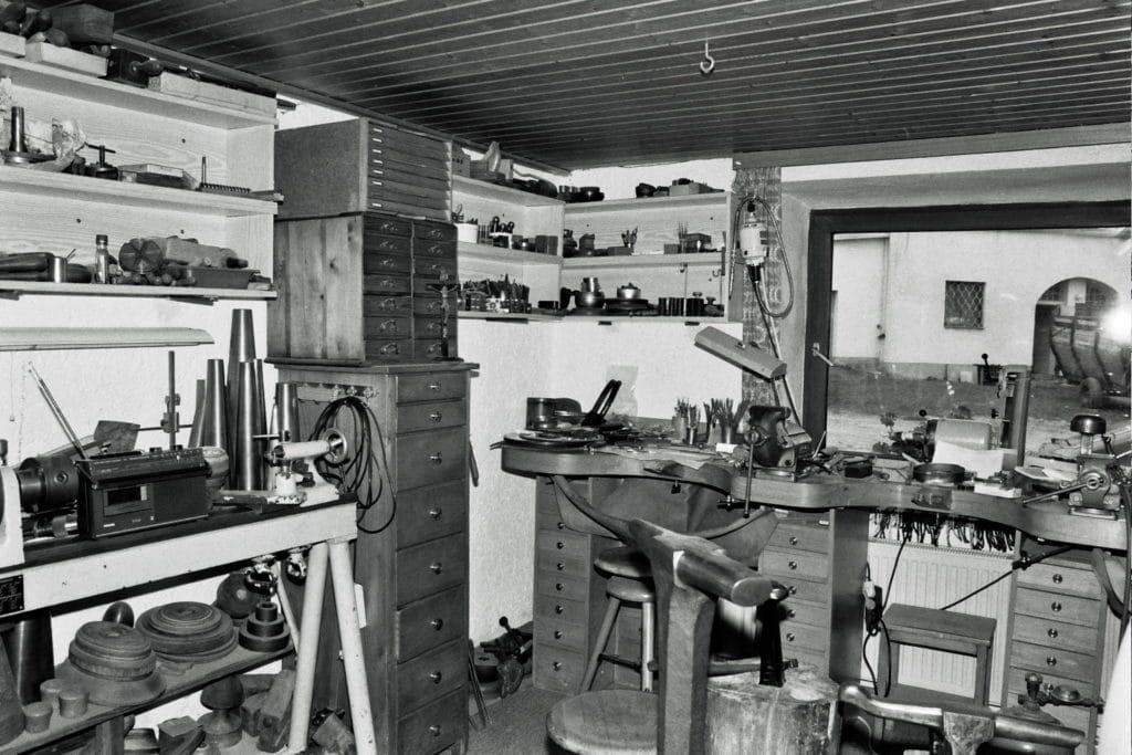 Ein Blick in die Werkstatt des Gürtlers Eiglmaier in Thyrnau