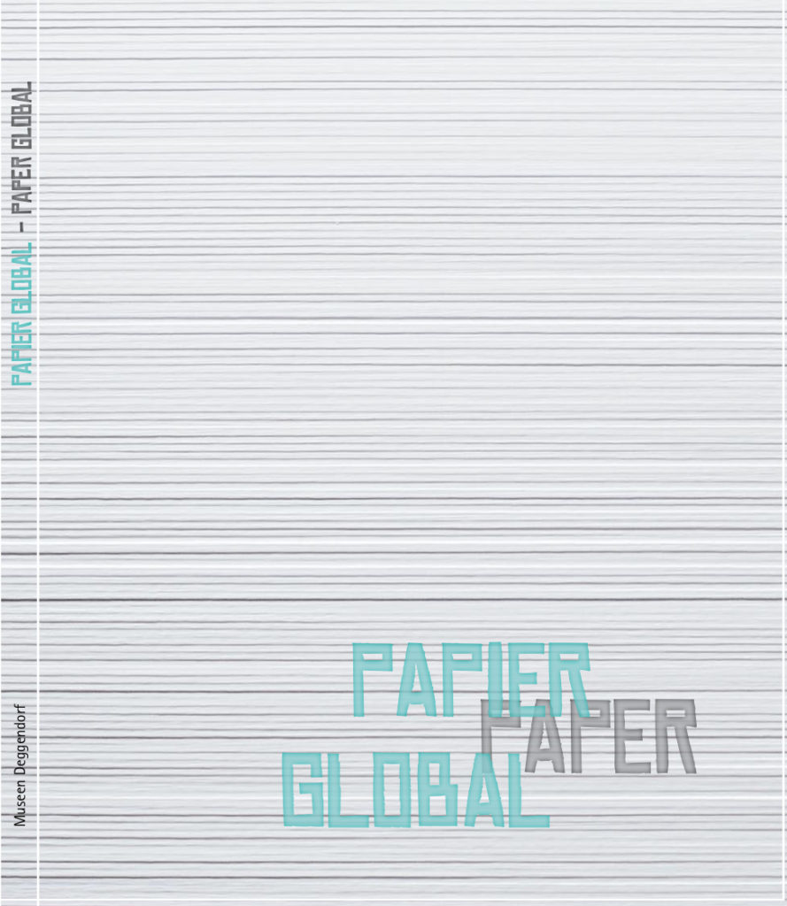Cover vom Museumskatalog zu Papier Global