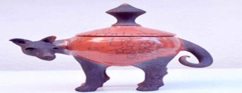 Keramikglas in Hundeform