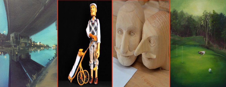 Prager Holzpuppe und seine Bilder