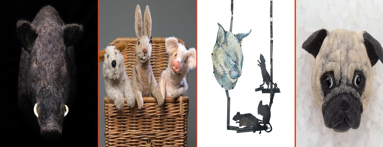 verschiedene Tiere in Kunstwerks