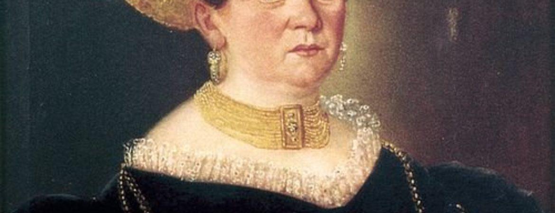 Historisches Bild einer Frau, die dem Handwerk nachging