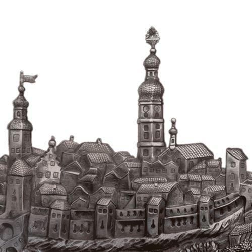 Antike Zeichnung der Stadt Deggendorf