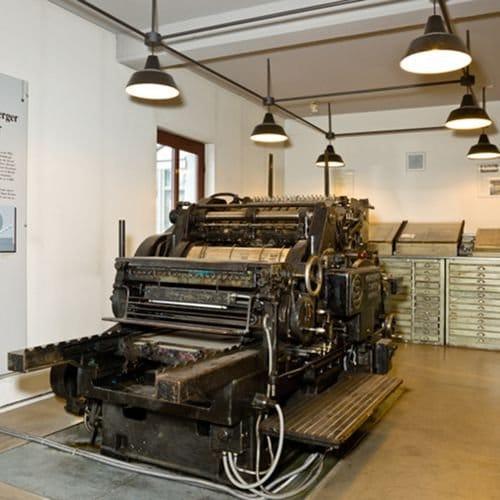 Historische Druckerei-Maschine