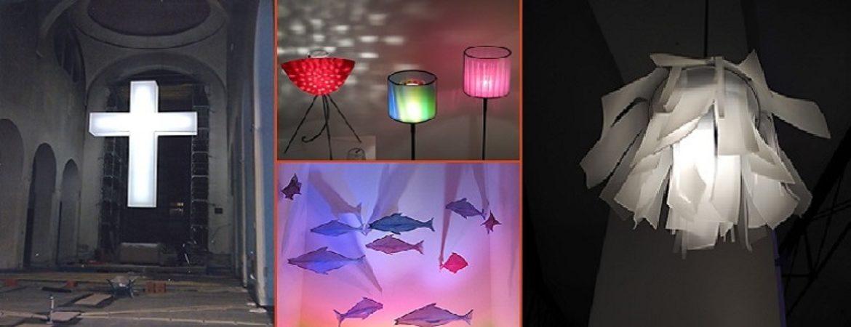 Lichten und Lampen aus Glas und Textil