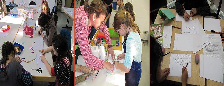 Kinder beschaeftigen mit Handwerk Karfts