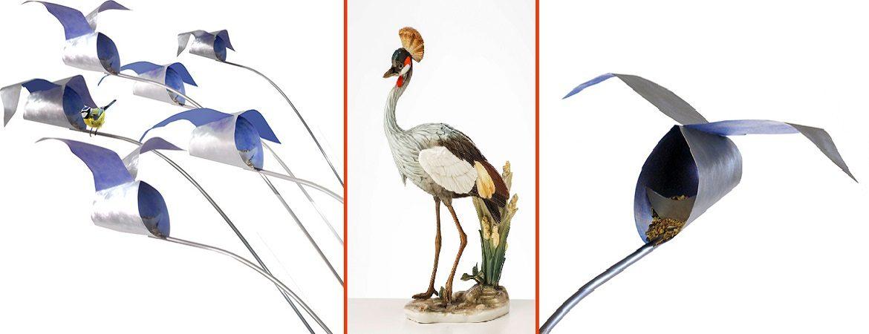 aus federleichten Papieren entstehen bunte Masken für Paradiesvögel