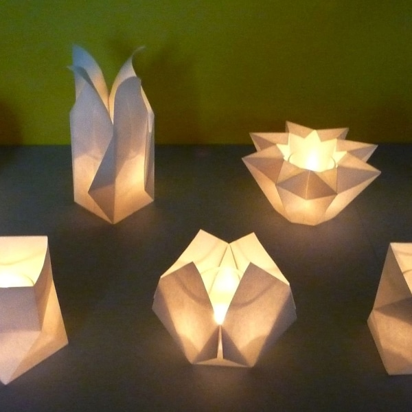 Tischlichter aus Papier Workshop im Handwerksmuseum Deggendorf