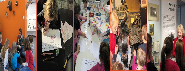 Kinder arbeiten an ihrem Buch