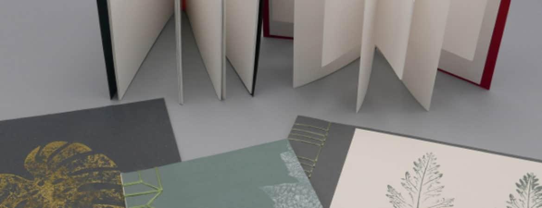 """Mini-Bücher für """"Bookoholicer"""" aus dem Workshop Handwerksmuseum Deggendorf"""