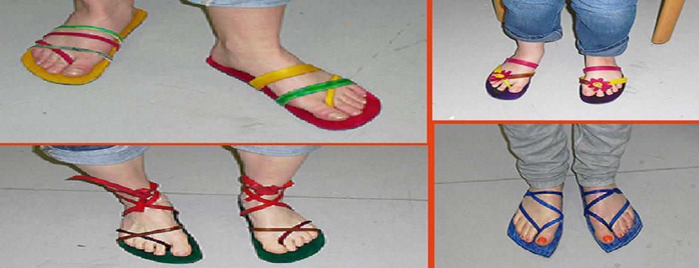 Fusse mit Flip-Flop
