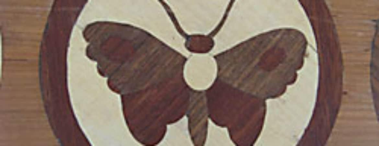 Laubsäge Muster aus Furnierholz
