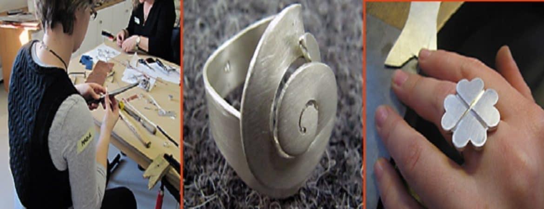 metallische Handwerk Ringe