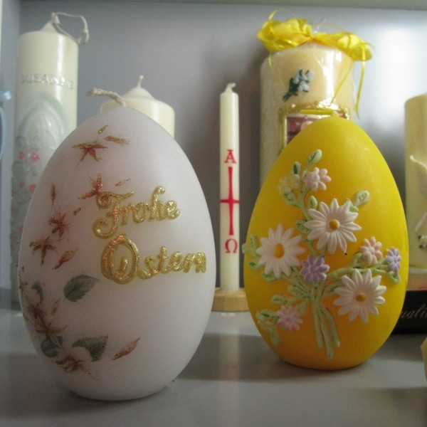 Osterkerzen aus dem Workshop