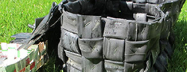 """Taschen aus dem Recycling-Workshop """"Taschen, Beutel, Boxen"""" im Handwerksmuseum Deggendorf"""